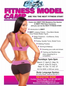 THE WBFF FITNESS MODEL CAMP..